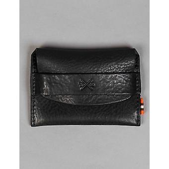 Tumble and Hide Chukka Leather Card Pouch - Black
