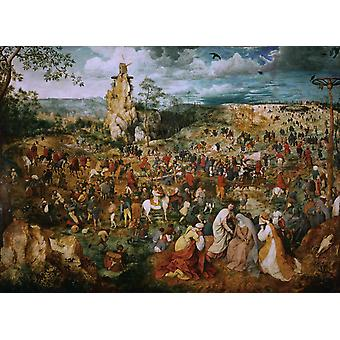 Christ Carring the Cross, Pieter Bruegel, 50x40cm
