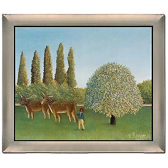 Avec Ram THe Pasture, Henri Rousseau, 61x51cm