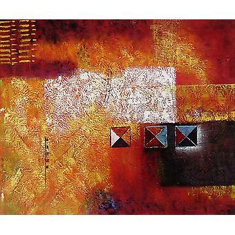 Resumen, pintura al óleo sobre lienzo, 50x60 cm