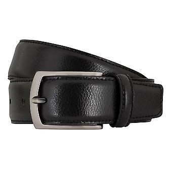 MIGUEL BELLIDO clasico belts men's belts leather belt black 7688