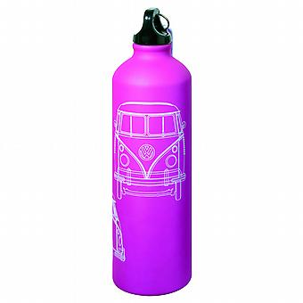 Official VW Camper Van Aluminium Drinks Water Bottle - Pink