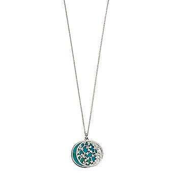Elements Silver Two Piece Pendant - Turquoise/Silver