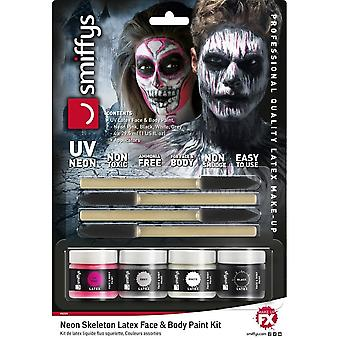 Neon Skeleton Liquid Latex Kit, ASSORTED