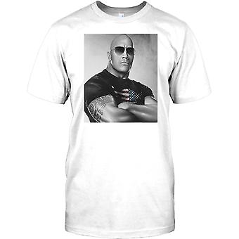 Rock - portret Dwayne Johnson - legenda Hollwood męskie T Shirt
