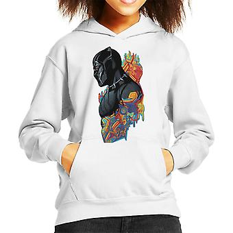 Marvel Black Panther Wakanda Pattern Montage Kid's Hooded Sweatshirt