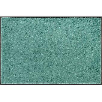 tvätt + torr matta Salvia grön tvättbara smuts matta