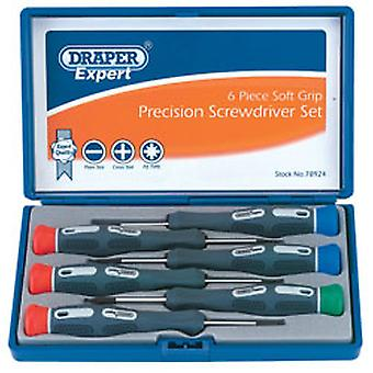 Draper 78924 Expert Quality Precision Screwdriver Set In Case Small Tiny 6 Piece
