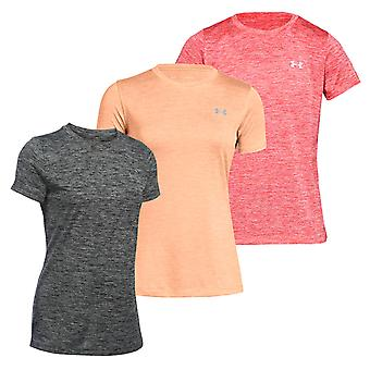 Sous Armour Tech Twist Womens Mesdames Fitness formation T-Shirt Tee