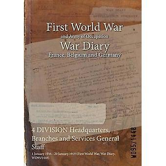 4 rami di quartier generale di divisione e servizi personale generale 20 gennaio 1919 1° gennaio 1918 prima guerra mondiale guerra diario il WO951448 di WO951448