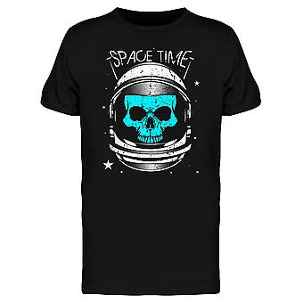 Skull Astronaut Space Time Tee Men's -Image by Shutterstock