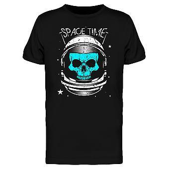 Schädel Astronaut Space Zeit T-Shirt Herren-Bild von Shutterstock