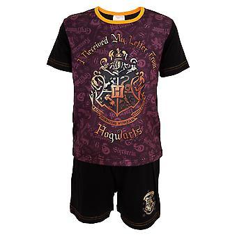 Harry Potter Childrens/Kids Hogwarts Letter Short Pyjama Set