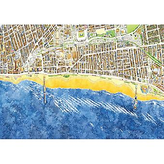 Cityscapes Street Map Of Blackpool 400 Piece Jigsaw Puzzle 470mm x 320mm (hpy)