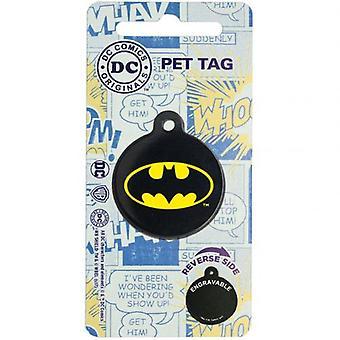 DC Comics Batman etiqueta del animal doméstico