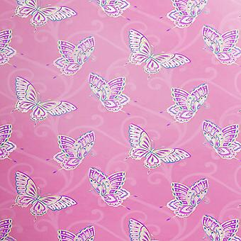 Papillon Schmetterling Motiv Pink Lilac Wallpaper Girls Bedroom Gold Metallic Holden