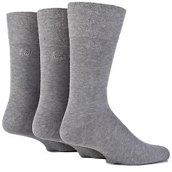 Pringle Dunvegan 3 Pack Gentle Grip Socks - Grey