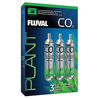 Fluval 45g CO2 Disposable Cartridge - 3 Pack