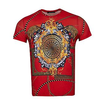 Oscar Banks Baroque Chain And Cheetah Print Mens T-Shirt