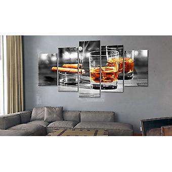 Maalaus - Sikarit ja viski200x100