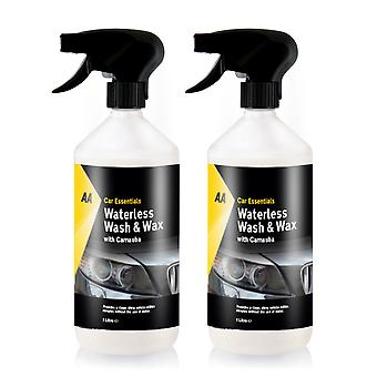 Lavaggio e cera senza acqua con Carnauba Car Cleaner AA Car Essentials - 2 x 1L