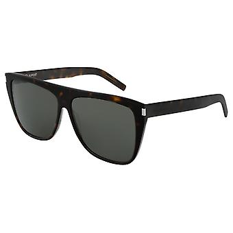 Saint Laurent SL 1 SLIM Havana/Grey SLIM Rectangle Sunglasses
