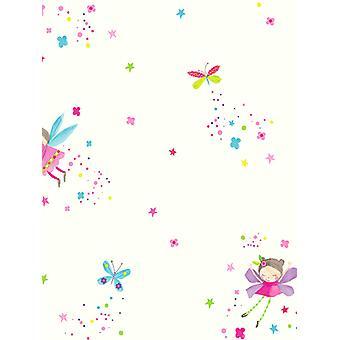 Fada poeira glitter wallpaper branco Arthouse 667101