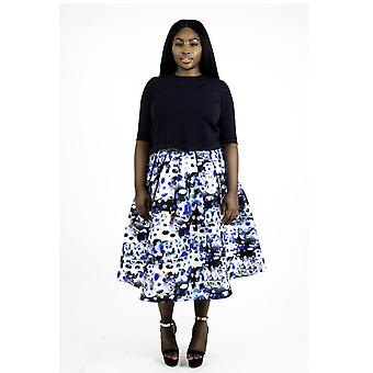 Ejura patterned skirt