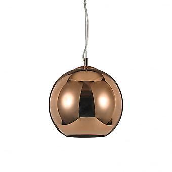 Ideal Lux Nemo Copper Single Pendant Light D30