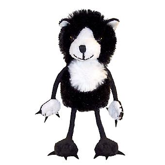 Finger Puppet - Cat (Black & White) New Soft Doll Plush PC002201