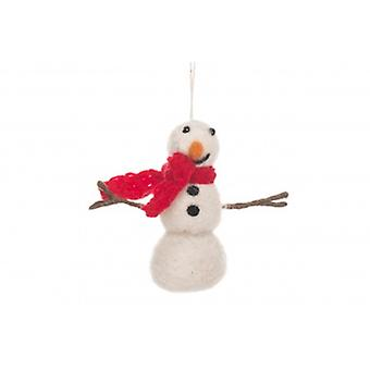 Fairtrade Felt Snowman Hanging Decoration| Gifts From Handpicked