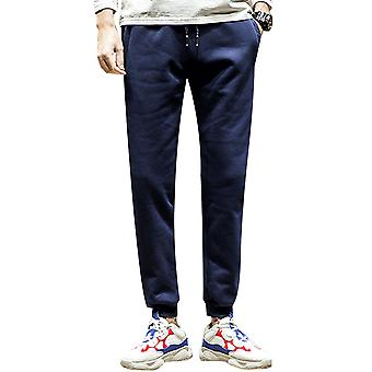 Allthemen Men's Hose verdickte warme Baumwolle solide Casual Long Pants