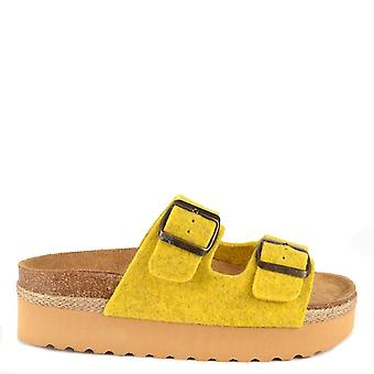Shepherd of Sweden Patricia Yellow Platform Sandal