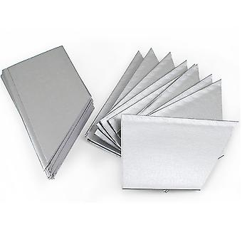 10, 30 or 100 Pearlescent Silver Paper Hats for DIY Christmas Cracker Crafts