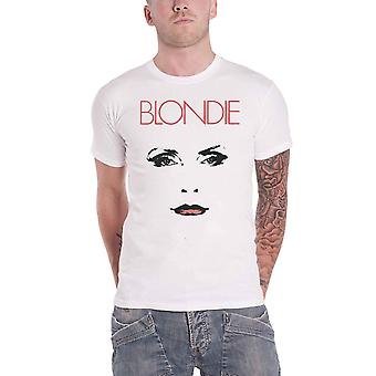 Blondie T Shirt Staredown Band Logo Debbie Harry new Official Mens White
