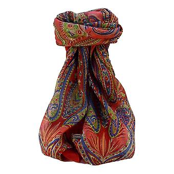 Maulbeere Seide traditionelle Quadratische Schal Zayd Scarlet von Pashmina & Seide