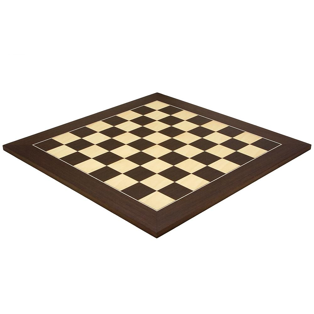 21.7 Inch Wenge and Maple Deluxe Chess Board