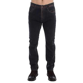 Gray Wash Regular Cotton Denim Jeans -- SIG1702277