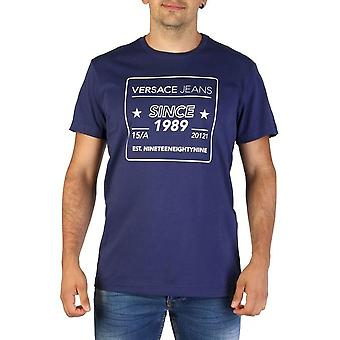 Versace Jeans - Bekleidung - T-Shirts - B3GTB76E_36610_221 - Herren - navy,white - L