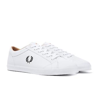 Fred Perry Baseline White Leather Trainers