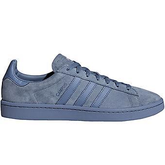 Adidas Originals drenge Kids campus lace up Suede sneakers trænere sko-blå