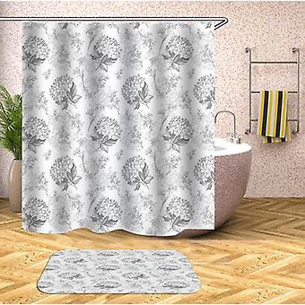 Flower Bouquets Black And White Shower Curtain
