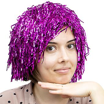 Tinsel Wigs 6-pack, Pink
