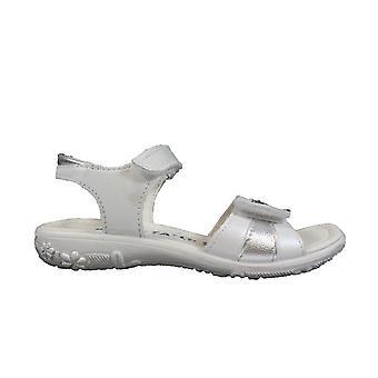 Ricosta Marie 6421700-857 wit lederen meisjes RIP tape sandalen
