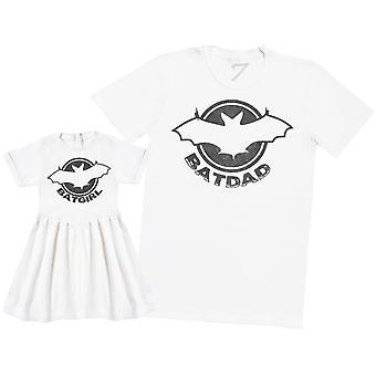 Batdad et Batgirl - T-Shirt et robe de bébé