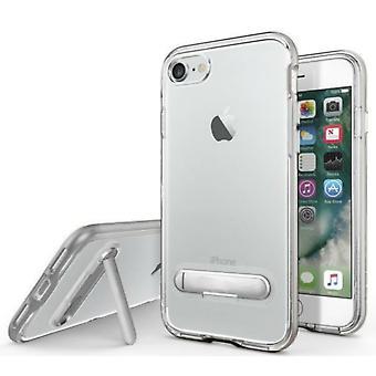 Apple iPhone 8 Plus Case Kickstand Case - 7 Plus Transparent Silver
