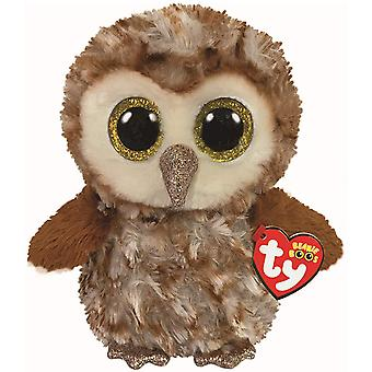 TY Percy Owl Beanie Medium 22 cm