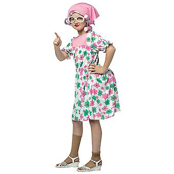 Granny Old Women Grandmother Prep 100 Days of School Book Week Girls Costume