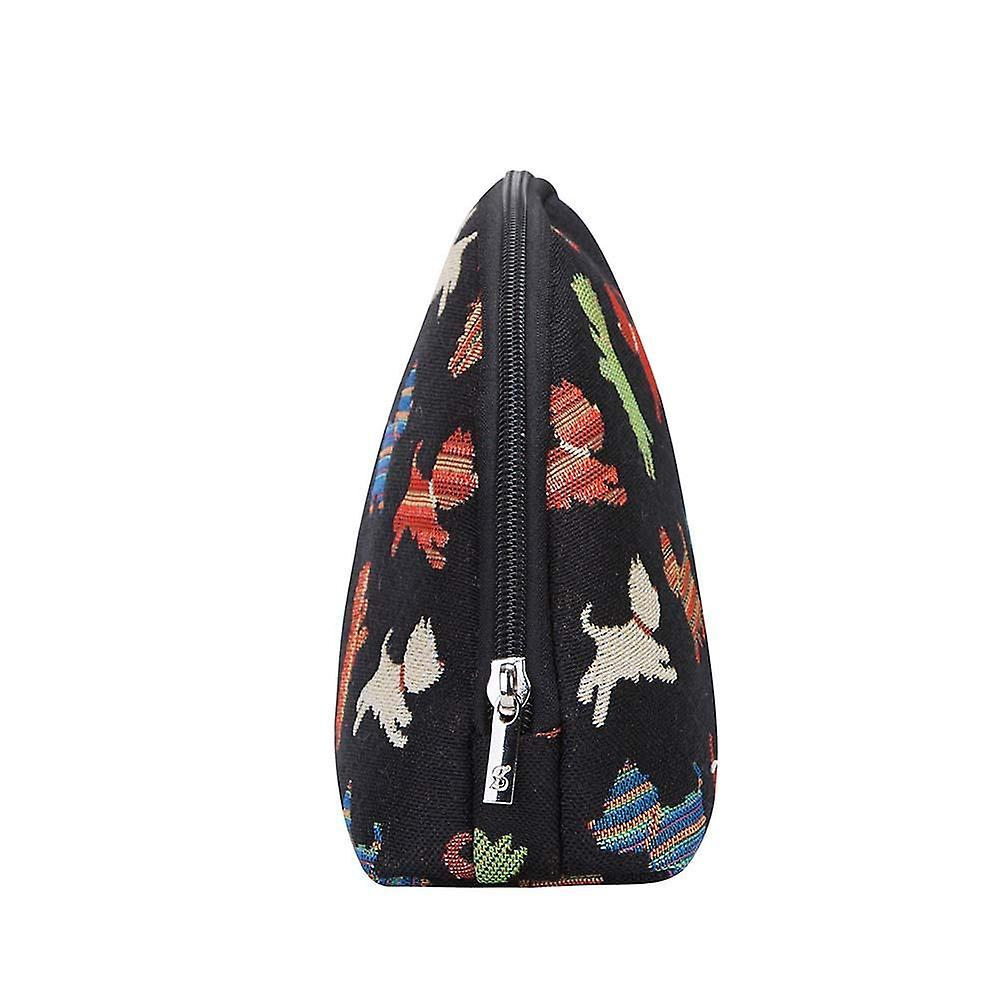 Playful puppy cosmetic bag by signare tapestry / cosm-puppy