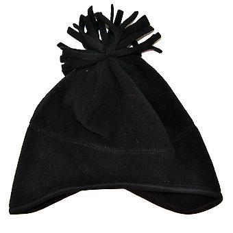 Black fleece cap 6/12 mon